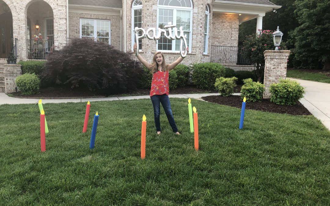 Pool Noodle Birthday Candles