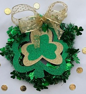 Easy St. Patricks Day Wreath