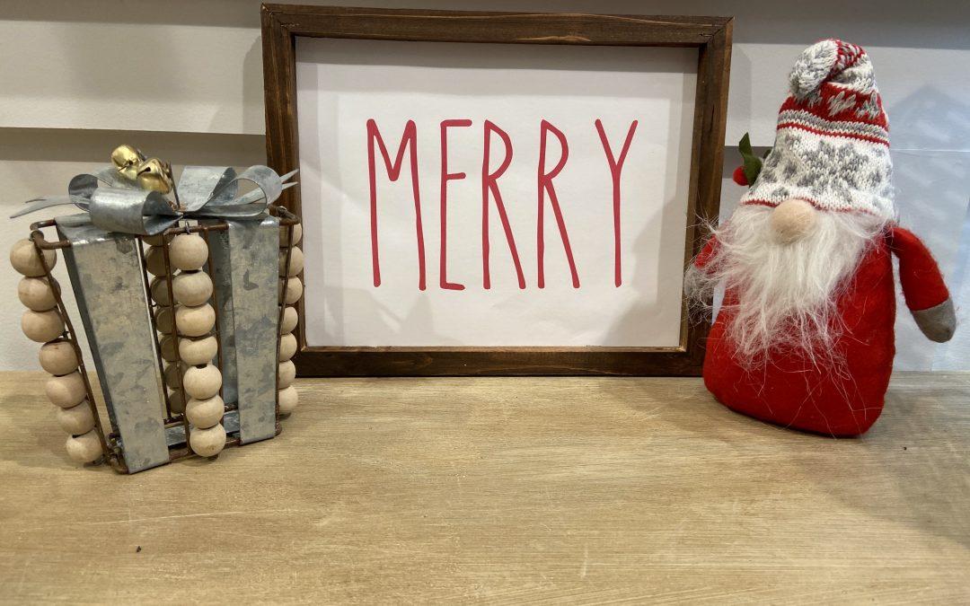 DIY Dollar Tree Christmas Sign