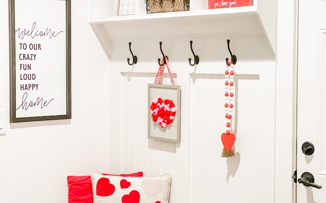 My Valentine's Day Mud Room